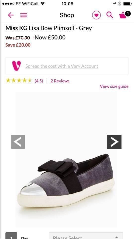 Miss KG shoes in grey size 7