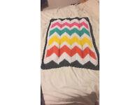 Handmade Crochet Baby Blankets Chevron Pattern