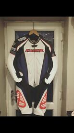 Ixon leather motorbike one piece race/road suit