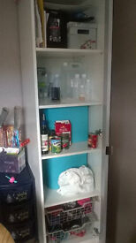 Large tall mirrored shelving cupboard/unit