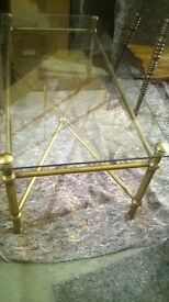 Glass marks and Spencer's coffee table