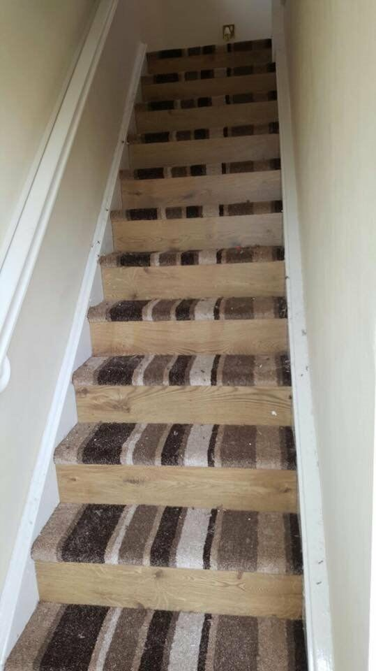 Half Laminate And Carpet For Stairs In Walton