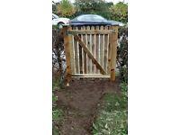 picket style garden gate