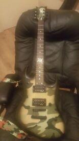 Vintage Metal Axxe Electric Guitar Razer Series