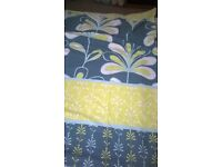 Teal & Lime single duvet cover