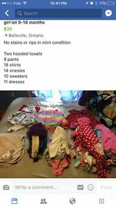 9-12 months girl clothing lot