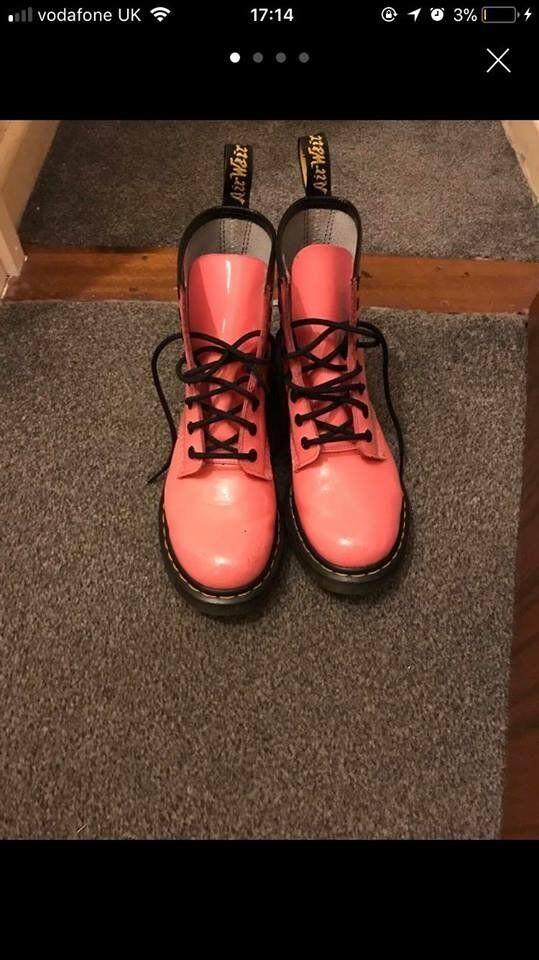 Pink Doc Martins, size 5.