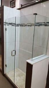 Shower slider standing, tub slider door, Custom glass, Shower Enclosures.