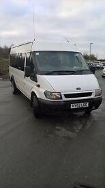 Ford transit minibus 16 seater