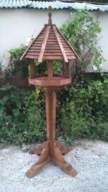 octagonal rustic hand made bird table