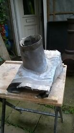 central heating flue for on top of a roof