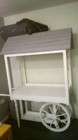 Vintage wooden candy cart