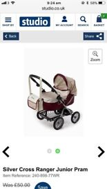 Kids silver cross buggy