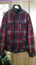 Superdry check wool coat
