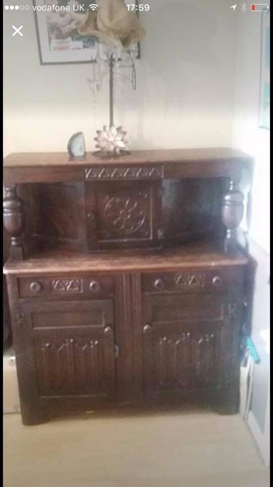 Vintage/Antique Wooden sideboard (good upcycle project)