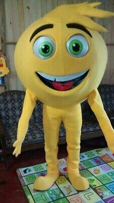 Gen Meh Gelb Emoji Film Maskottchen Kostüm Party Charakter Geburtstag Halloween