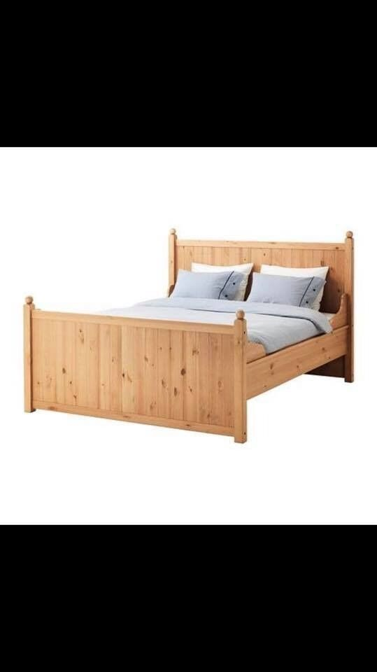 Solid Pine! King size. IKEA bed frame. Hurdal range. | in Somerset ...