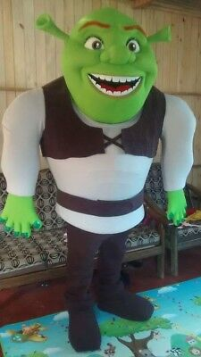 Shrek Green Ogre Mascot Costume Party Character Birthday Halloween Cosplay Suit