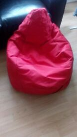 Childrens size Bean Bag - Red