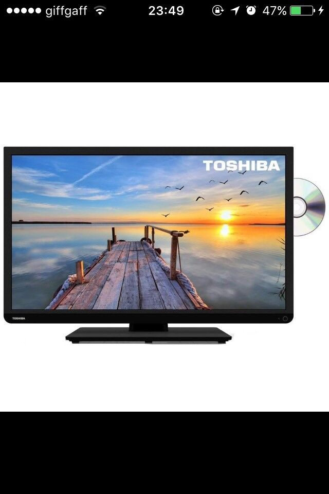 Toshiba 32inch TV with built in DVD player