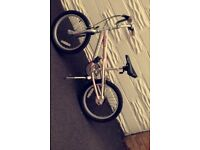 Girls pink Magna bike with bike stand for age 6-8