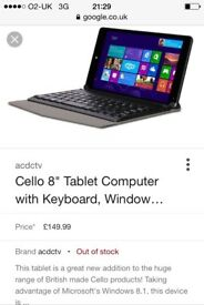 Tablet with wireless keyboard