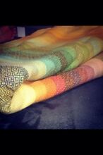 Hand woven wrap Girasol Amitola azarfan gold Dimond weave llama weft Marino Marion Area Preview