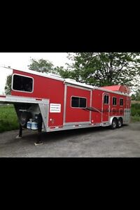 Custom made horse & camping trailer