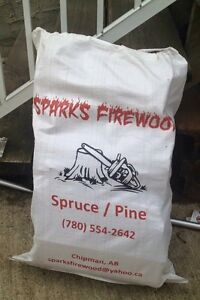 Bagged firewood for sale