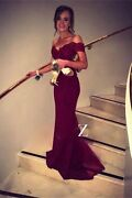 [Brand New] Stunning Off-Shoulder Fishtail Evening Gown - 70% OFF Southbank Melbourne City Preview