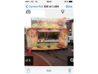 Catering trailer and pitch for sale