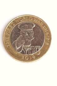 Super rare - triple mint errors - Lord Kitchener 2 pound coin