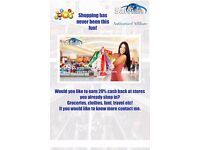 20% Cashback on all Retail Shopping and Travel