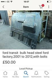 Ford transit metal bulk head