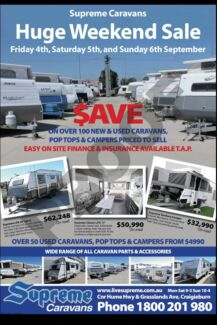 SURPEME CARAVANS MASSIVE YARD SALE THIS WEEKEND 3rd till 6th Deer Park Brimbank Area Preview