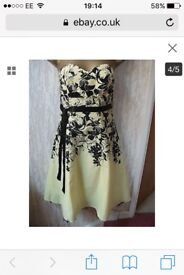 Jane Norman floral yellow dress size 10
