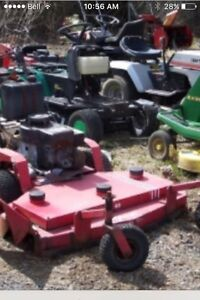 Paying cash for lawnmowers and snow blowers