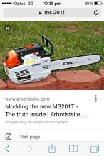 Stihl ms 201t arborist chainsaw Windsor Hawkesbury Area Preview