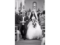 Designer Phil Collins Wedding dress