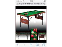 B.C.E snooker table for children