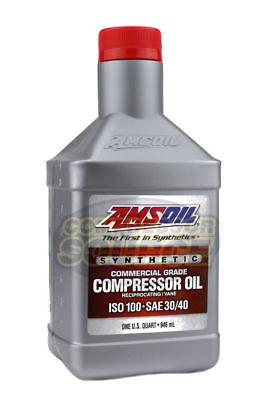 1 Quart Qt. Amsoil Synthetic Air Compressor Oil Iso-100 Commercial Grade 946 Ml