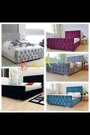 Double bed crush velvet for sale