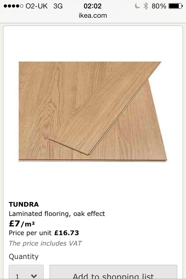 Brand New Ikea Tundra Laminated Flooring Oak Effect Covers 12 Sq