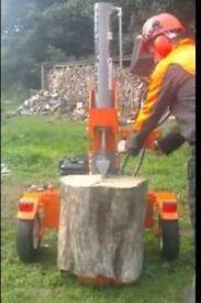Log splitting service mobile machine fire wood