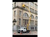 CHERRY PICKER HIRE £180 PROPERTY MAINTENANCE/PAINTING/GUTTERS/SOFFITS WEST END ALL AROUND GLASGOW