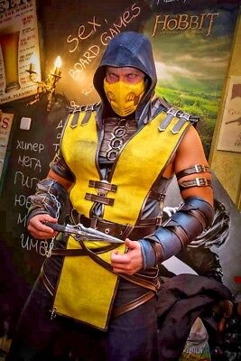 on cosplay costume/Scorpion costume/Cosplay costume for Men/ (Mortal Kombat Cosplay Kostüme)