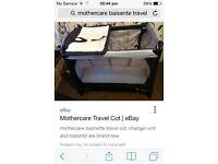 Mothercare basinette travel cot
