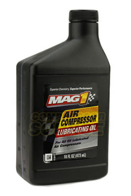 Iso-100 Non Detergent Air Compressor Oil Lube 16 Oz Ounce Jug Lubricant Sae 30w