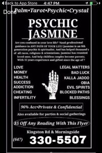 Psychic Jasmine- Call for Free Consultation