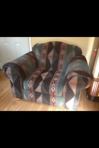 Living room chair and love seat combo